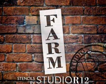 Farm - Farmhouse Serif - Vertical - Word Stencil - Select Size - STCL1964 - by StudioR12