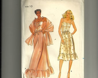 Butterick Misses' Camisole, Skirt and Stole Pattern 3728