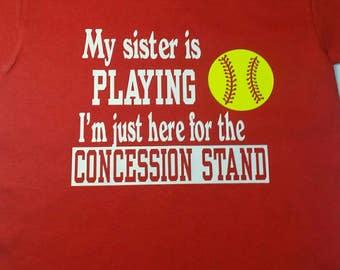 Softball/baseball sister or brother shirt