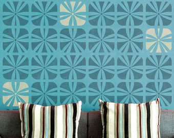Large Wall Stencils - Modern Geometric Accent Wall Pattern for Painting and Custom Art