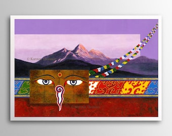 Buddha Eyes | Buddhist Art Print