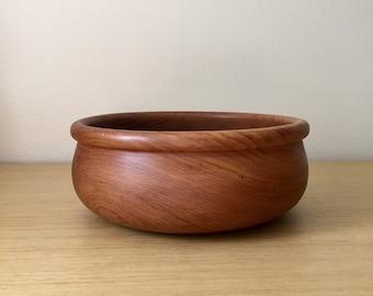 danish modern teak salad bowl