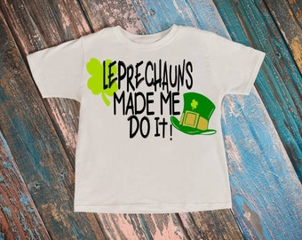 Leprechaun svg, Made me do it svg, Leprechaun hat svg, Irish svg, Shamrock svg, St patricks day svg, Svg, Clover svg, Four Leaf Clover svg