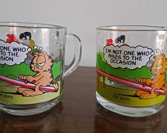 See Saw Playground | I'm Not One Who Rises to the Occasion | Garfield and Odie McDonald's Collector Mug | 1980s