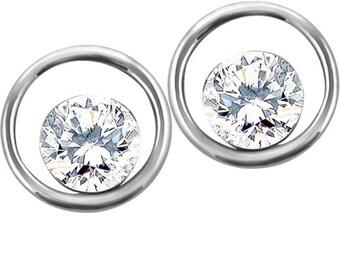 0.50 ctw Certified Canadian Diamond Floating Earrings
