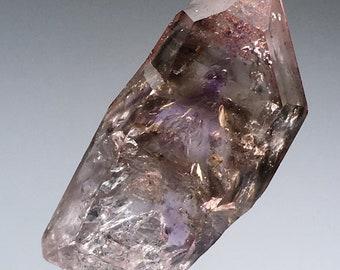 High Quality 9.6g Gemmy Brandberg Amethyst Smokey Quartz w/Hematite and Enhydros Crystal Specimen
