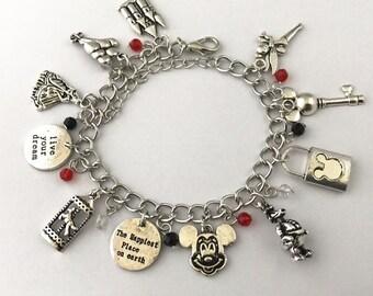 Disney World inspired charm bracelet