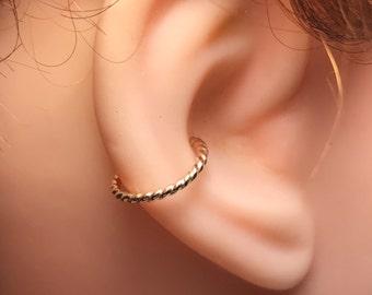 Conch Earring - Helix Hoop Earring - Rook Earring - Septum  - 6 -16mm Inner Diameter Hoop