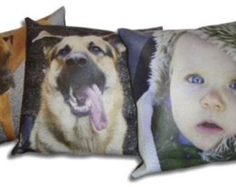 Personalized Photo Cushion Cover - Double Sided