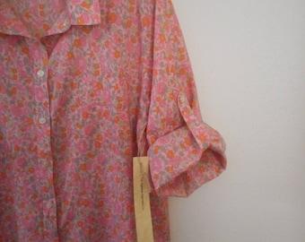 Vintage Look, Izod Blouse, woman's XL