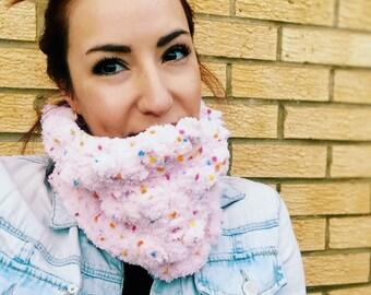Candy Cowl Crochet Pattern ~ PDF