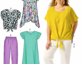 Sewing Pattern Women's  Top Pattern, Women's Elastic Waist Pants and Shorts Pattern, Loose Fit Tunic Pattern, McCall's Sewing Pattern 6971