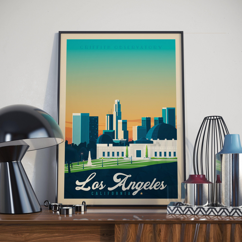 Los Angeles California USA Poster - Vintage Poster, Las Vegas USA ...