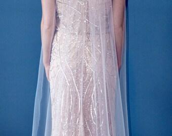 1 Tier Floor Length Wedding Veil