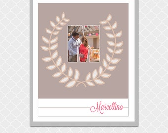 Custom Family MONOGRAM Picture Word - 8x10 - Housewarming gift, loved one gift - EOgdenAve