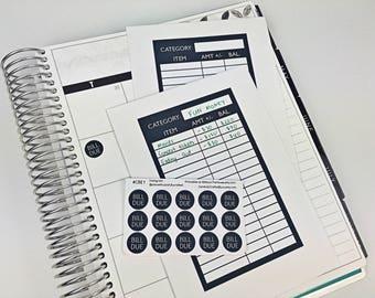Cash Budget Envelope Stickers - Dave Ramsay, Money, Bill, Spending, Finances, Tracker