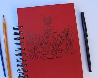 junk journal, dream journal, bullet journal, smash book - vintage hardcover altered book journal - travel junk journal