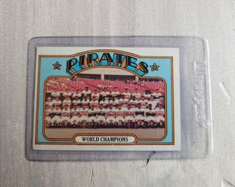 1972 Pittsburgh Pirates Vintage Team Card - Pittsburgh Pirates Gift - Roberto Clemente, Stargell - Fathers Day Gift for Men, Him, Boyfriend