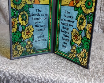 Vintage Stained Glass Positive Message Gifts