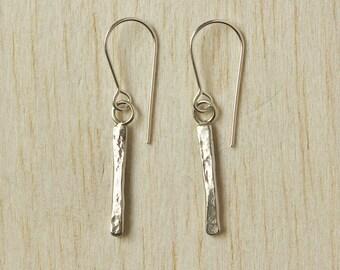 Sterling Silver Earrings. Bar Drop Earrings, Silver Bar Earrings, Delicate Silver Earrings, Minimal Silver Earrings, Silver Drops