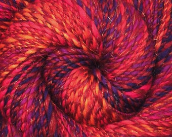 Handspun yarn - Merino wool / trilobal nylon yarn, worsted weight - 220 yards - Circus Clowns 2