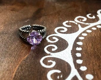Swarovski Crystal Ring in Violet