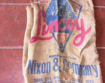 Vintage LINCOY Potato Sack