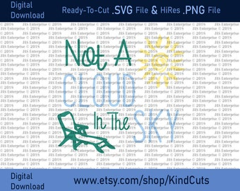 Not A Cloud In The Sky, SVG and PNG file for your cricut cutting machine silhouette cameo ready to cut vinyl htv shirts spring sunny relax