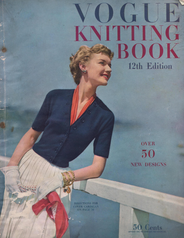 1949 Vogue Knitting Book 12th Edition. 64 knitting patterns