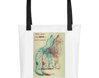 Time spent with cats...Tote bag