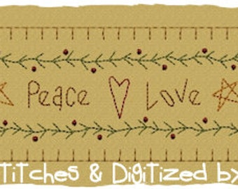MACHINE EMBROIDERY-Faith, Hope Peace Towel Band-Large Split (2 parts) Immediate Download