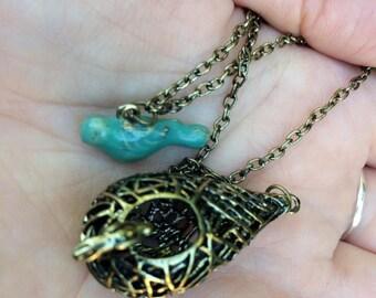 Elena Gilbert Bird Nest Necklace