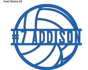 Custom Volleyball Vinyl Decal with Name