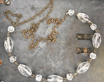 Agatha - Upcycled Chandelier Necklace