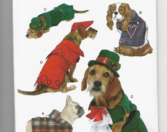B6536 Butterick Pet Coats and Hats Sewing Pattern Sizes 6.5-16 Inches in Length and 11-20 Inches in Girth