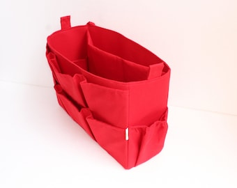 XL Bag organizer for YSL tote Bag 13.5wide x 9.5 height x 4.5 deep -Red color