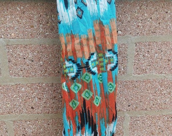 tribal pattern headband-blue