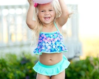 Mer-Mazing Girls' Swim Set - bathing suit, summer, swim
