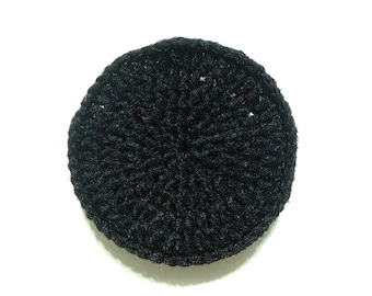 Black Crocheted Nylon Netting Dish Scrubbie-Large
