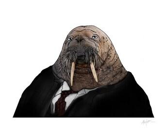 William Howard Taft. As a Walrus. -Fine Art Print