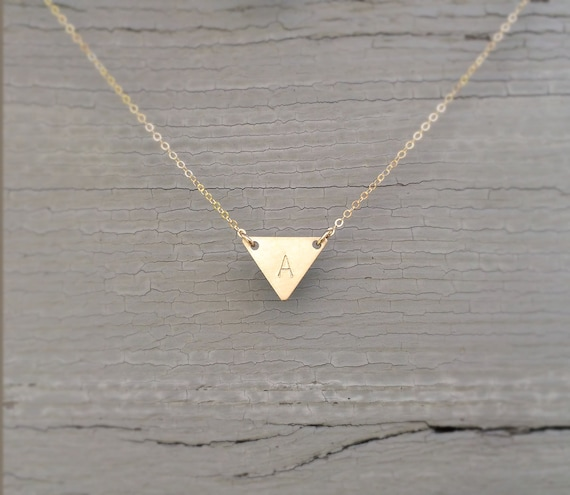 pendant product london alexi rose gold triangle necklace necklaces