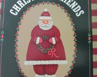 "K Vintage Tole painting "" Christmas Friends"" 1987 used booklet 32 pages"