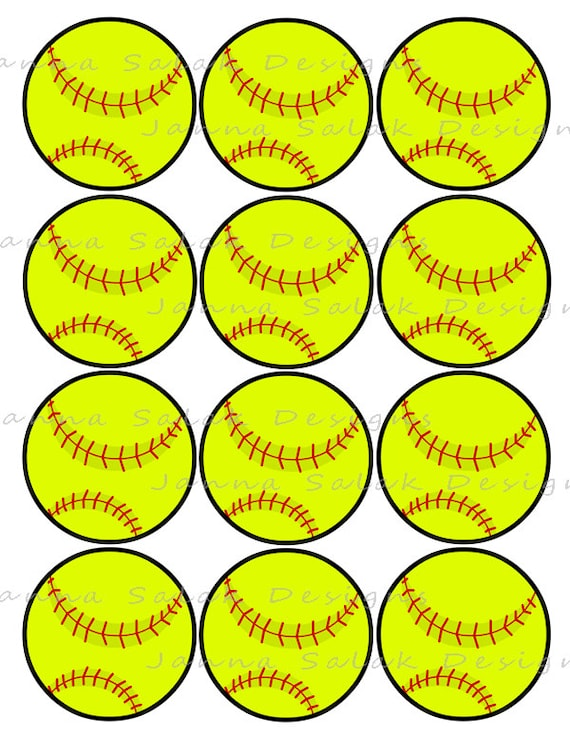 2 5 Quot Softball Printable Cupcake Toppers Sports Theme