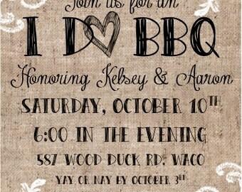 Engagement Party Invitation - BBQ
