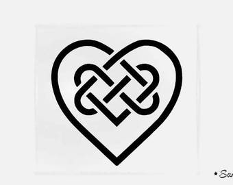 heart Celtic flex fusible