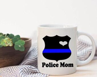 Police mom mug|love police|police gift|police wife