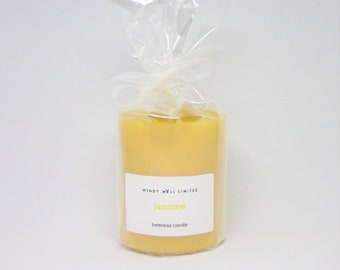 Handmade Scented Beeswax Pillar Candle