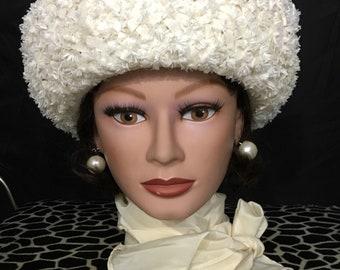 Vintage White Straw Hat