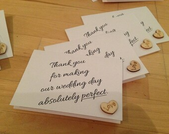 Wedding Thank you Card - Pack of 5