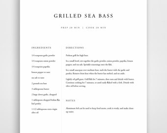 template recipes